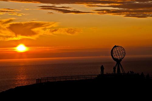 Sole a mezzanotte Capo Nord