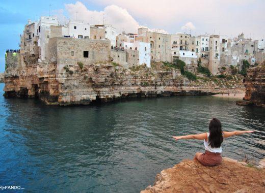 La splendida vista di Polignano a mare