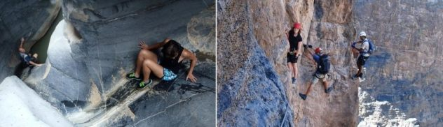 Canyon Snake Gorge in Oman