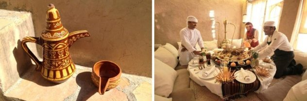Bere un tè in Oman