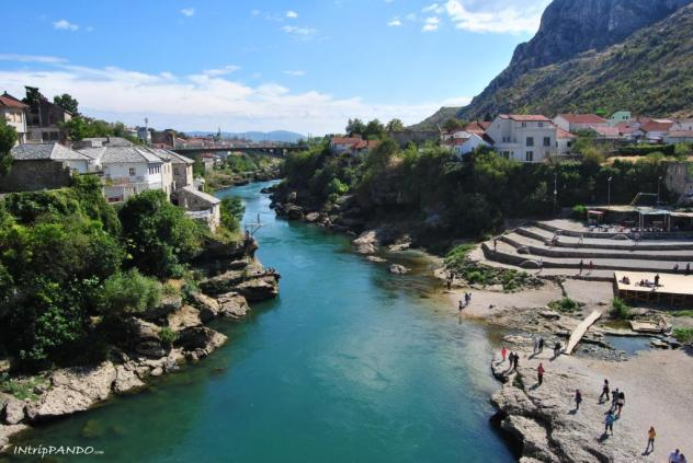 Mostar panorama dallo Stari Most