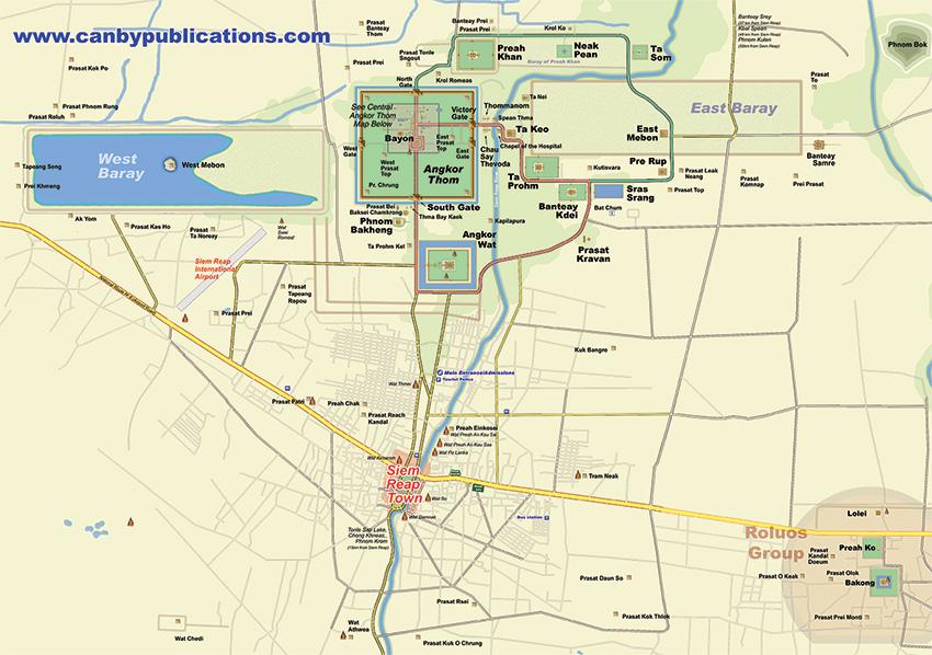 mappa Angkor