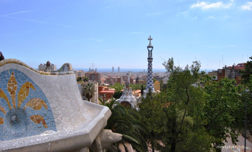 Panorama di Barcellona da Park Guell