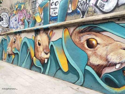 murales con conigli a Barcellona