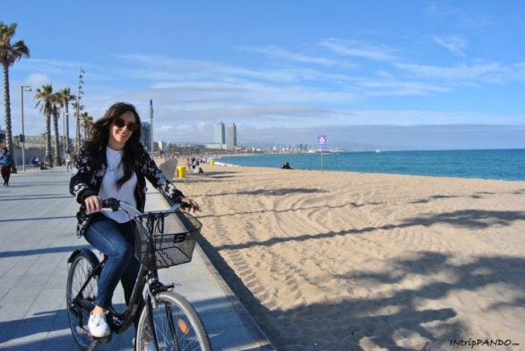 Barceloneta in bicicletta