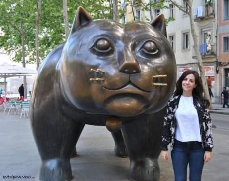 Gatto di Botero a Barcellona