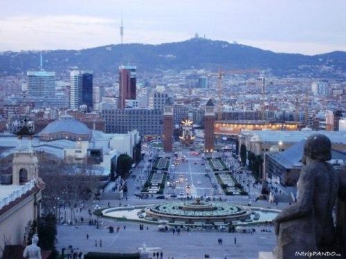 Vista Plaça Espanya a Barcellona