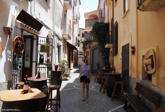 Centro storico di Diamante in Calabria