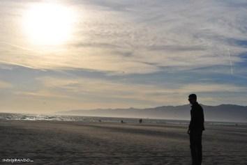 spiaggia di Los Angeles al tramonto