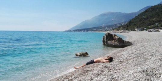 Spiagga di Dhermi in Albania
