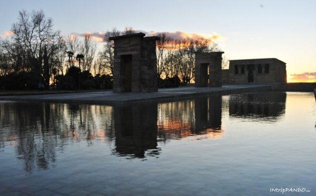 Tempio di Debod al tramonto