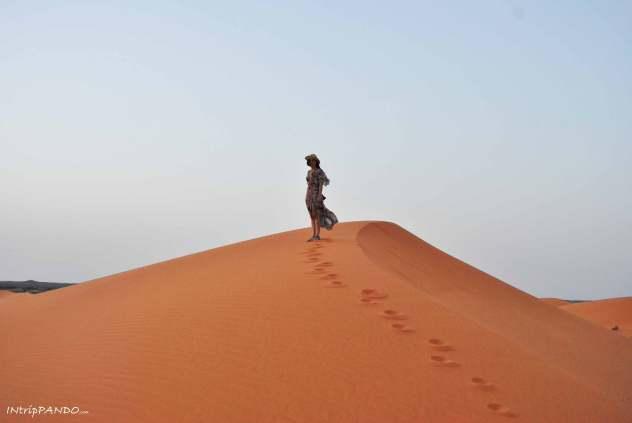 Le dune del deserto del Sahara a Merzouga