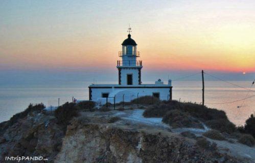 tramonto al faro di Akrotiri