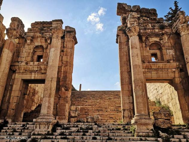 Scalinata del tempio di Jerash