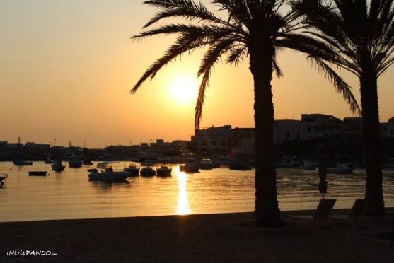 tramonto lampedusa porto vecchio