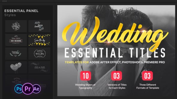 Download Essential Wedding Titles | MOGRT for Premiere » Free After ...