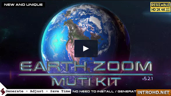 VIDEOHIVE EARTH ZOOM PRO KIT V5 » Free after effects Templates