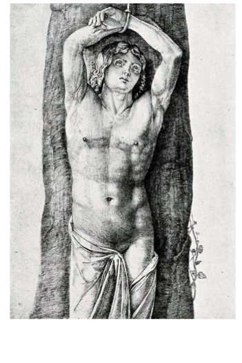 Jacopo de' Barbari, St. Sebastian, engraving early 150