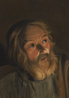 The Denial of Saint Peter (detail), by an unidentified follower of Seghers