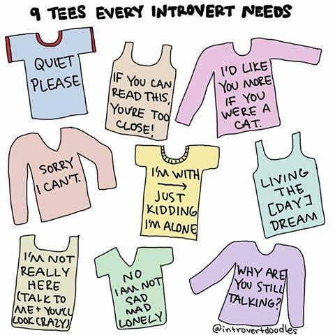 IntrovertDear.com Introvert Doodles t-shirts