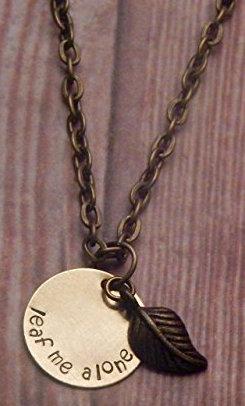 IntrovertDear.com leaf me alone necklace