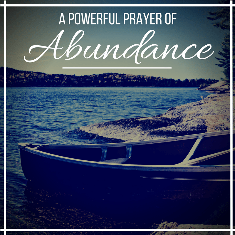 A Prayer for Abundance