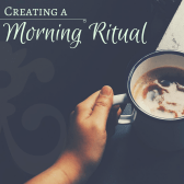 meditation and writing and tea as a morning ritual