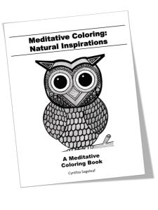 natural elements coloring inspirations