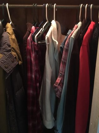 reducing the clothes in the closet