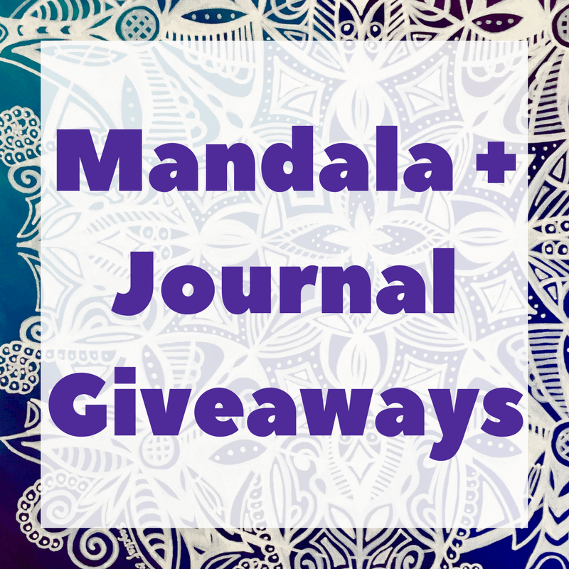 2 Giveaways: A Mandala Painting and 10 Journals!