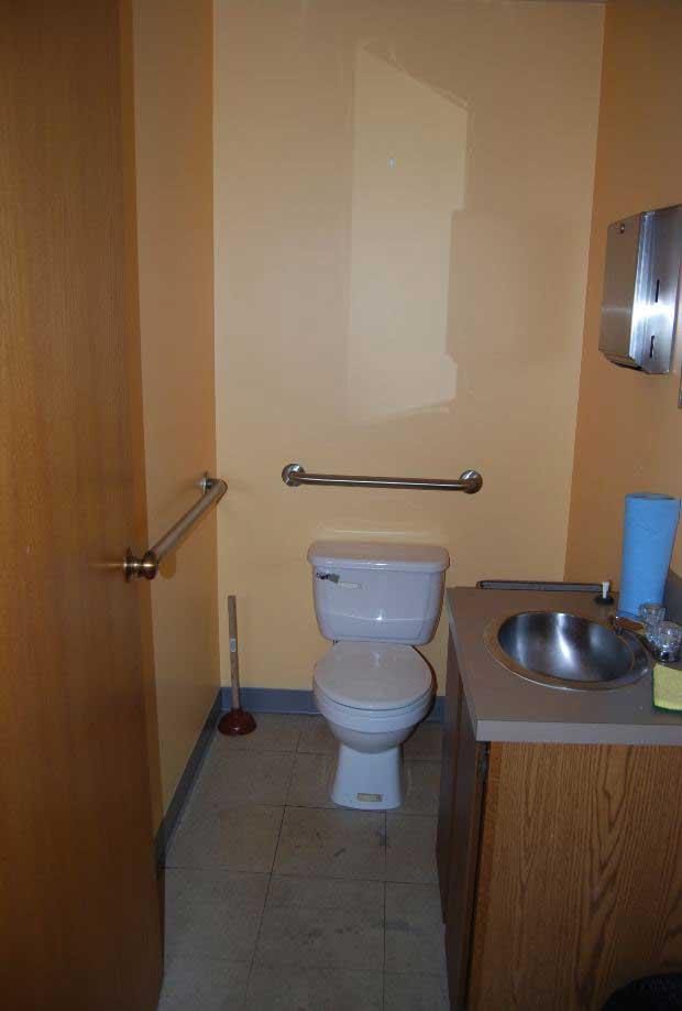 Men's Bathroom Before