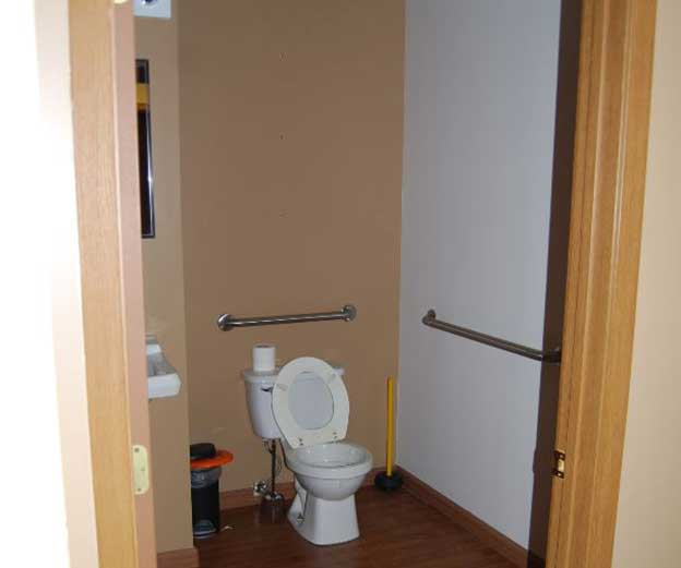 Women's Bathroom Before