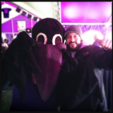 Matt Sileno with the Raven of all Ravens...