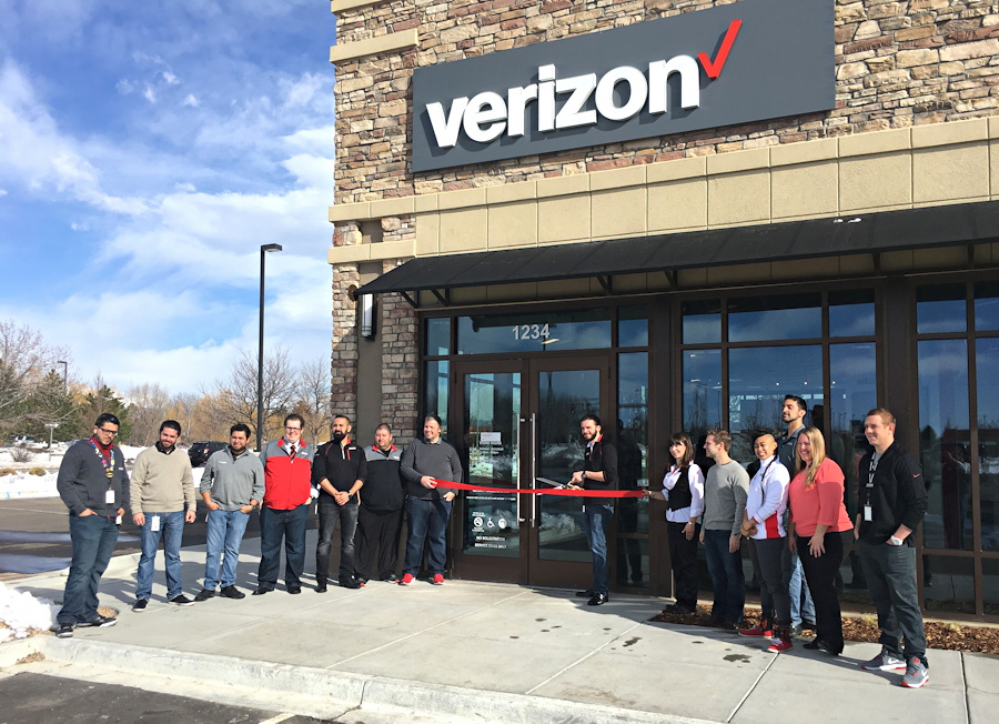 verizon store, longmont colorado co ribbon cutting opening ceremony