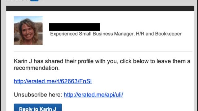 linkedin endorsement request