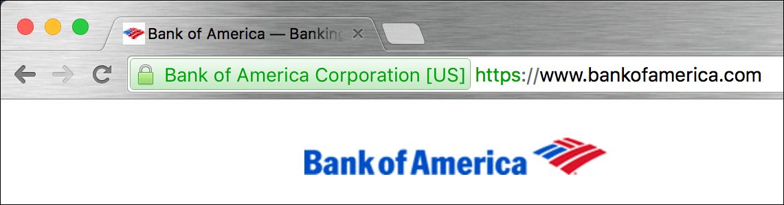 bofa bank of america secure web site connection
