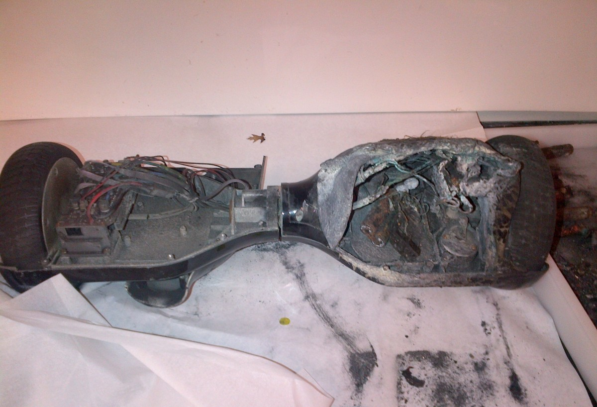 hoverboard caught on fire