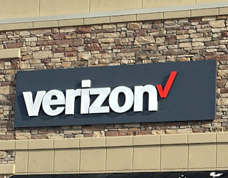 verizon new logo store design opening longmont co