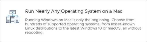 vmware fusion with any operating system