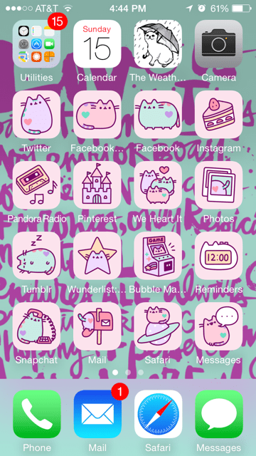 Cocoppa Wallpapers Girl Pastel Pusheen In Tune By Fendergirl