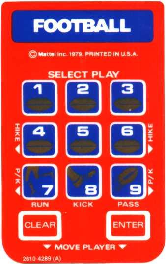 mattel football overlay