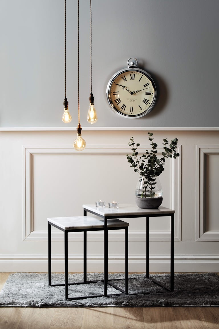 Aldi Spring Home 2018 Marble Coffee Tables Clock and Vintage LED bulbs