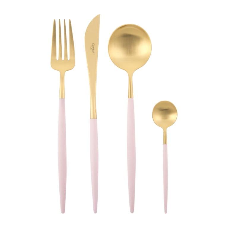 Amara Cutipol Goa Cutlery Set - 24 Piece - Pink Gold