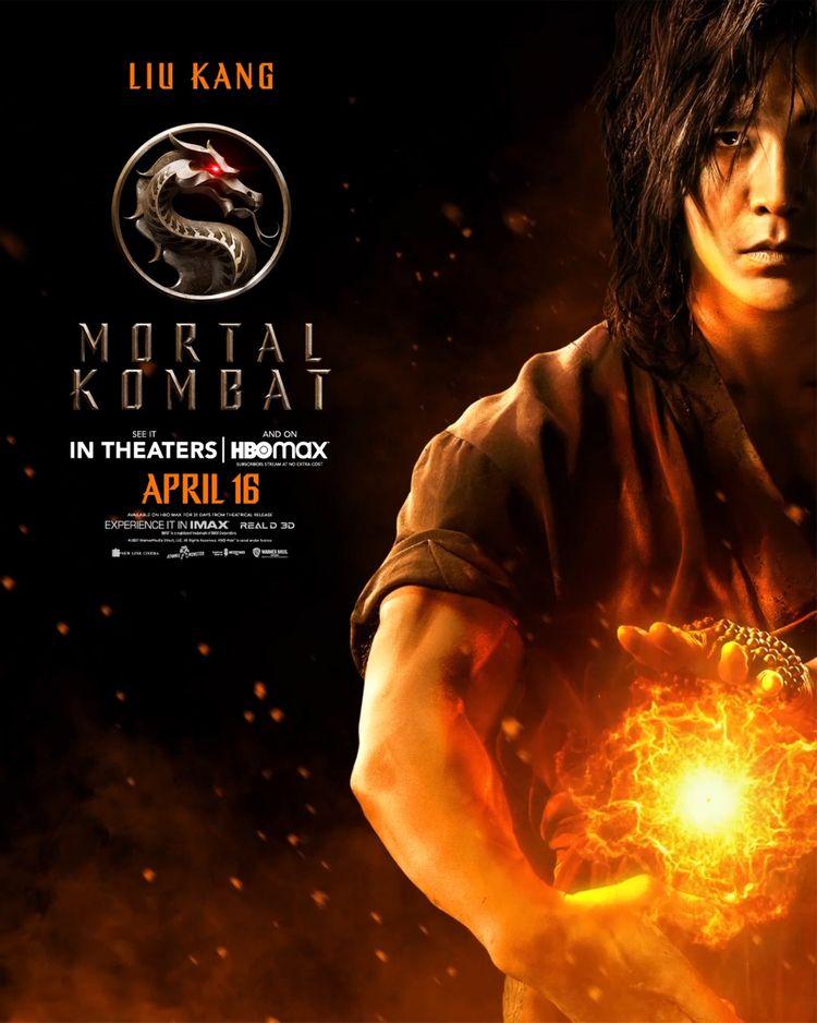 mortal kombat character poster liu kang