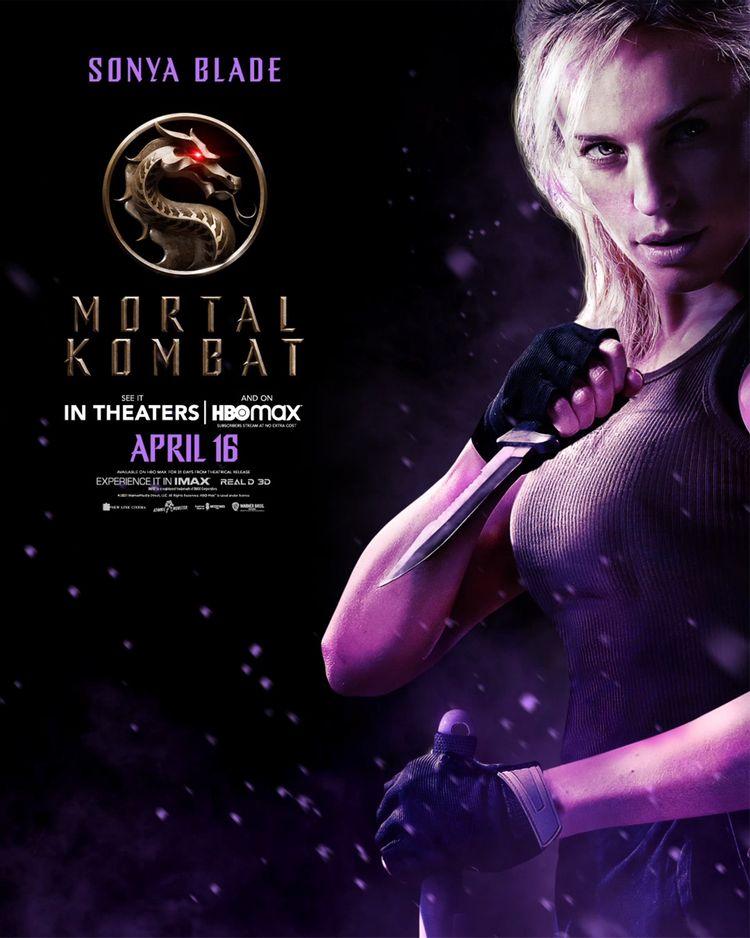 mortal kombat character poster sonya blade