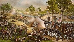 Kurz and Allison Civil War Battle Scene Painting