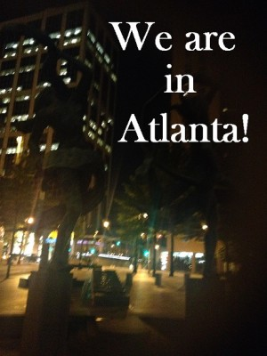 Atlanta Skyline with We are in Atlanta text