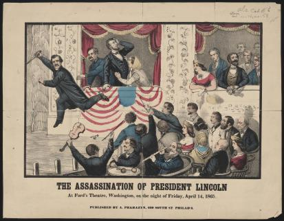 Lincoln Being Shot and Booth leaping from the Box