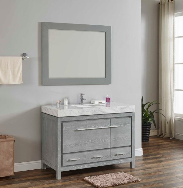 "48"" single vanity with wide counter in riverside county"