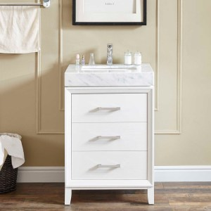 small single sink corner vanity riverside 24 vanity